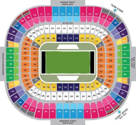 Carolina Panthers Seating Chart Seat Views Tickpick Bank Of America Stadium Carolina Panthers Panthers