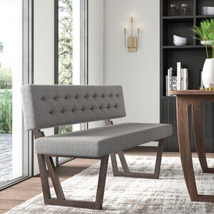 Mercury Row Mukai Upholstered Bench Wayfair In 2020 Upholstered Dining Bench Dining Bench With Back Upholstered Bench Seat