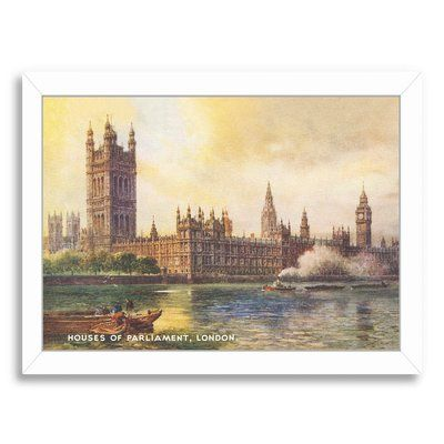 East Urban Home u0027Houses of Parliament Londonu0027 Graphic Art Print - white paper format