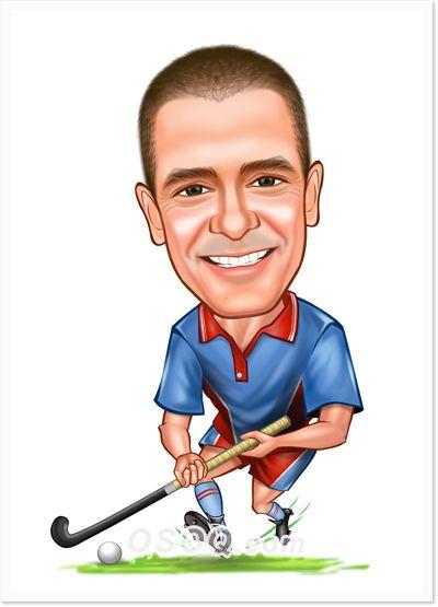 Field Hockey Caricatures Caricature Custom Cartoons Cartoon