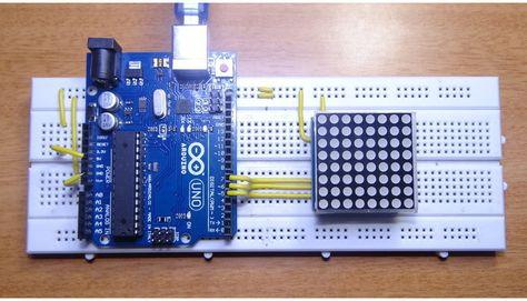 arduino 8x8 led matrix interface electro dude arduino projects rh pinterest com