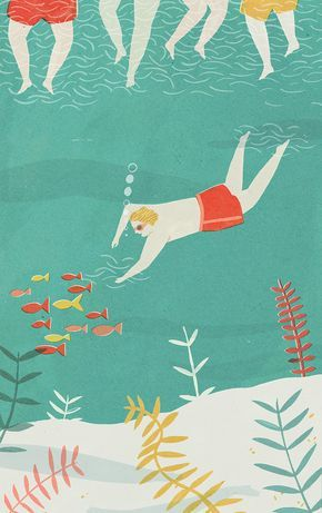Naomi Wilkinson Illustration Wild Swimming Illustration Illustration Design Graphic Illustration
