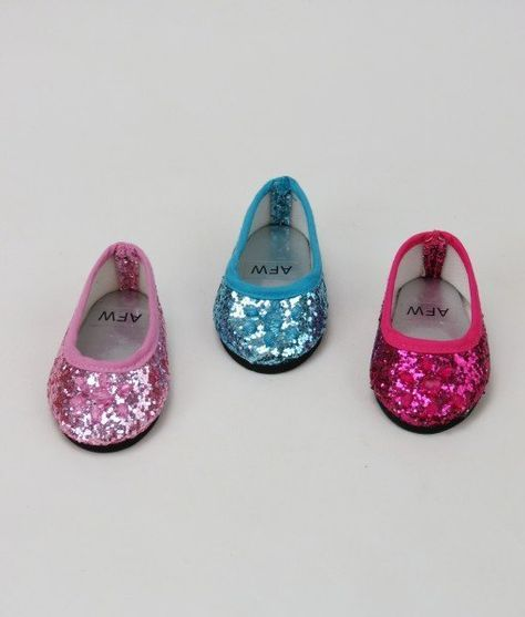 18inch Doll Bling Bling Sequin Canvas Shoes for American Doll Accs Pink