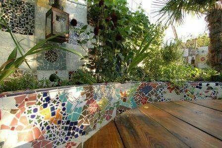 Pin By Wanita Marinovic On Garden Mosaic Mosaic Garden Mosaic Garden Art Patio Garden Design