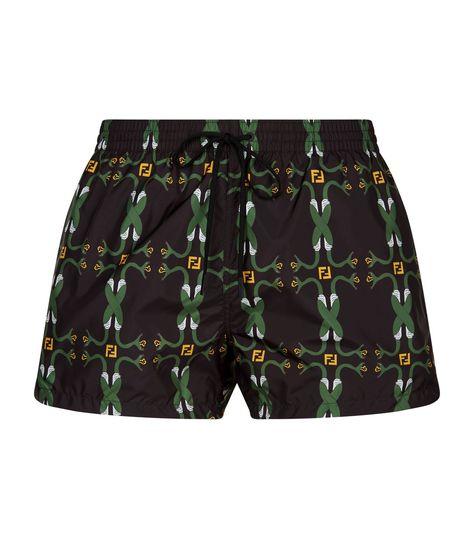 FENDI SNAKE PRINT SWIM SHORTS. #fendi #cloth