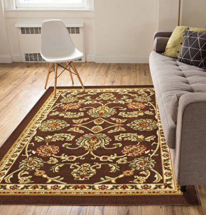 Non Skid Slip Rubber Back Antibacterial 8x10 7 10 X 9 10 Area Rug Timeless Oriental Brown Tr Indoor Outdoor Kitchen Well Woven Indoor Outdoor Area Rugs