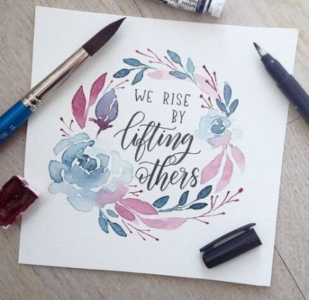 64 Trendy Quotes Calligraphy Watercolor Watercolour quotes