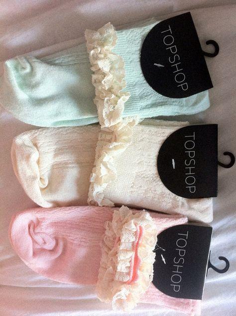 pastel ruffle socks