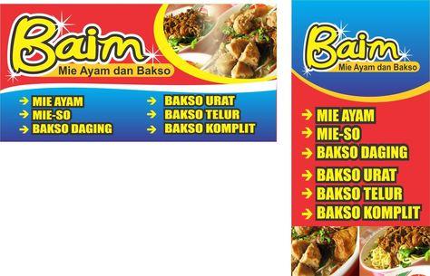 Banner Bakso Mie Ayam Cdr - desain spanduk keren