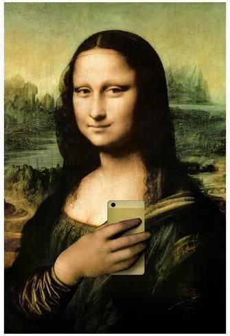 Mona Lisa Parody Monalisa Moderna Mona Lisa Monalisa Releitura