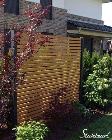Sichtschutz Garten Holz Larche Metall Anthrazit Modern Stahlzart Anthrazit Garden Design Plans Garten Holz Larche Metall Pergola Plans Pergola Garten