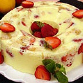 Pudim De Frutas De Creme 4 Leites Receita Em 2020 Receitas