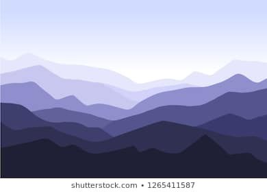 Mountain Landscape Background With Blue Silhouettes Of Mountains And Hills Panoramic Mountain View Vector Stock Images Free Landscape Background Stock Photos