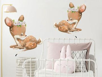 Naklejka Na Sciane Dla Dzieci Sarenki Akwarela 7749903701 Oficjalne Archiwum Allegro Baby Mobile Baby