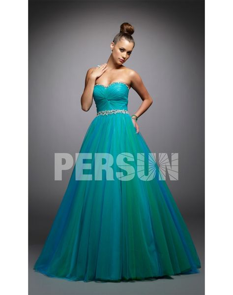 Tulle Sweetheart Pleats Beading Ball Gown Prom Dress on Sale at ...
