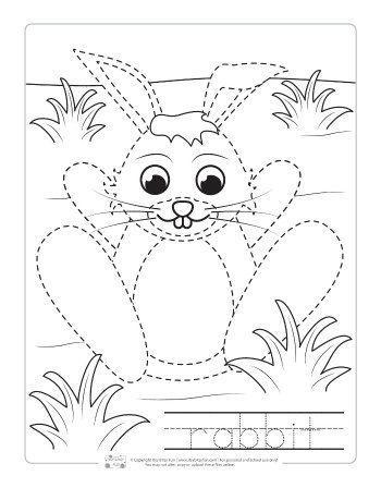 Farm Animals Tracing Coloring Pages Itsybitsyfun Com Kindergarten Art Skills Animal Art Projects Farm Animal Coloring Pages