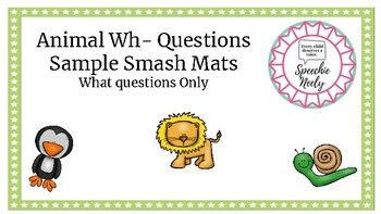 Animal Smash Mat Sample What Questions What If Questions This Or That Questions Smash Mats