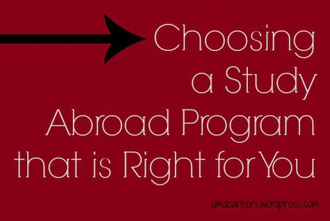Choosing a Study Abroad Program that is Right for You Resume - resume study abroad