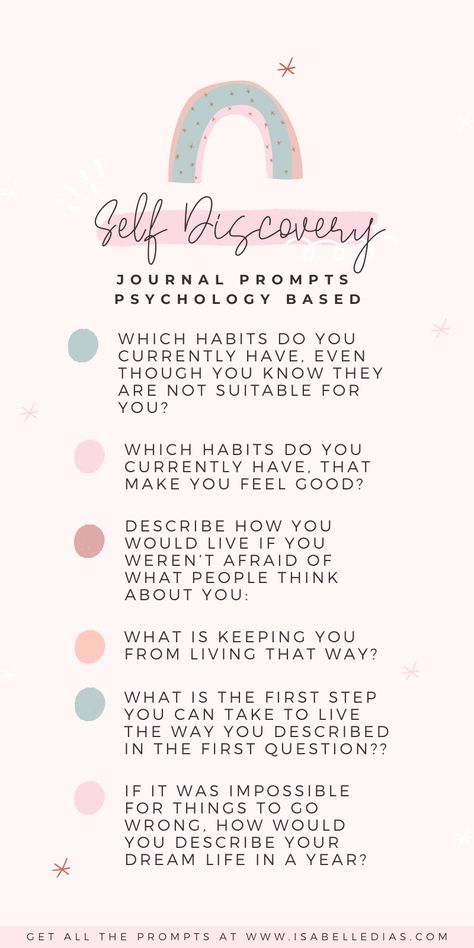 Self Discovery Journal Prompts are probably one of the first steps to find yourself. When answering those questions to find yourself, you are doing wonders for your mental health, it's a true act of self care! Click through to get all the self discovery questions + self exploration writing prompts!