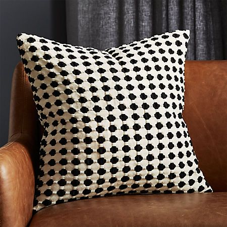 20 Estela Black And White Pillow Cb2 In 2020 Black And White Pillows Modern Accent Pillow Black Pillows