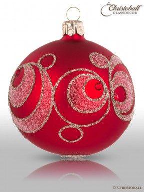 Christoball Solitario Weihnachtskugel Christbaumkugel Glaskugeln Kristalle Kreise Preciosa Swarovski Weihnachtskugeln Christbaumkugeln Weihnachtskugeln Glas