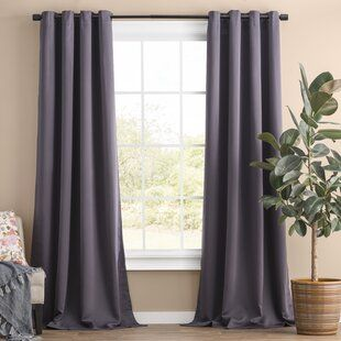 Solid Blackout Thermal Grommet Curtain Panels Set Of 2 Grommet Curtains Drapes Curtains Panel Curtains