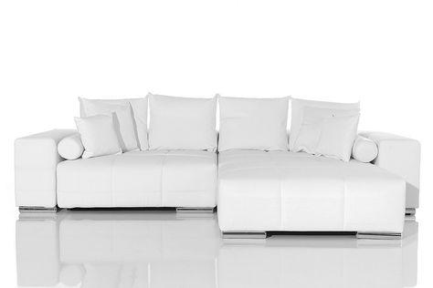 Large Sofa Delife Big Sofa Xxl Marbeya Weiss Napalon Leder