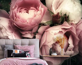 Etsy Your Place To Buy And Sell All Things Handmade Flower Mural Mural Wallpaper Floral Wallpaper