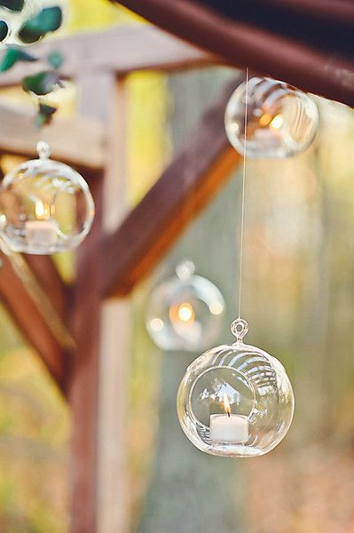 Floating Candles - These Beautiful and Cozy Details Will Make You Want a Thanksgiving Wedding - Photos