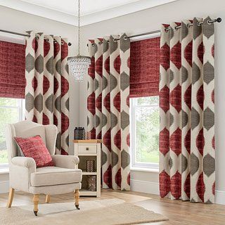 Maroon Grey Curtains Red And Grey Curtains Red Curtains Pattern Curtains Living Room