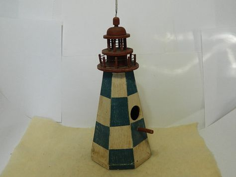 "Solar Powered Poly Lighthouse,White//Black 32/"" Octagon"