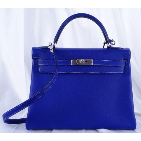 hermes electric blue kelly bag