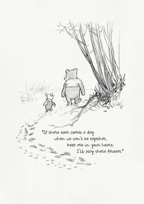 If there ever comes a day... Winnie the Pooh Quotes classic | Etsy