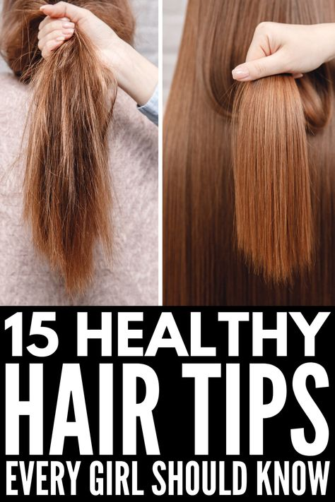 How to Prevent Split Ends | If you're looking for natural hair care tips, products, and remedies to teach you how to get rid of split ends WITHOUT cutting your hair, this collection of beauty tips and ideas is for you! From store bought shampoos and serums, to DIY hair masks made with items like coconut oil, honey, Vaseline, egg yolks, apple cider vinegar, learn how to get rid of damaged hair at home fast! #splitends #hairtreatments #healthyhair