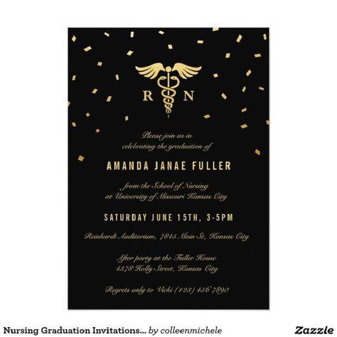Nursing School Graduation Invitations Printable