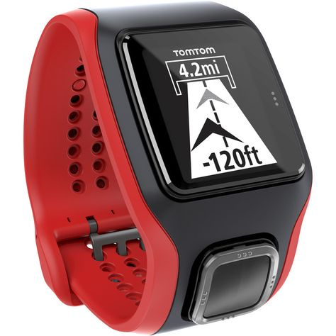 6f3eb6e50acf TomTom Runner Cardio GPS Watch Black Red