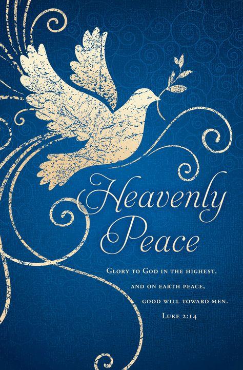 Church Bulletin - Christmas - Heavenly Peace (Pack of
