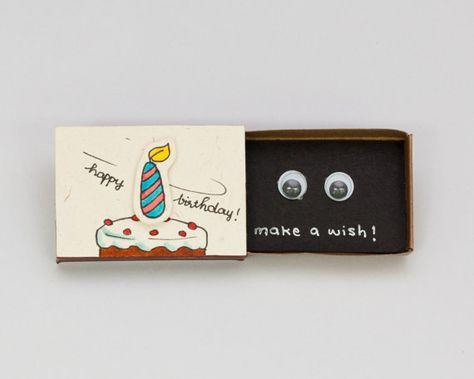 Funny Birthday Card Matchbox/ Gift box/ Make a