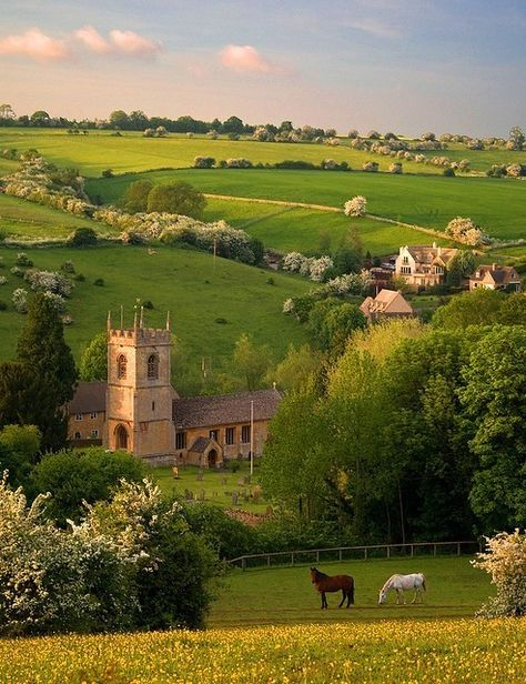 Naunton, England, beautiful English country side