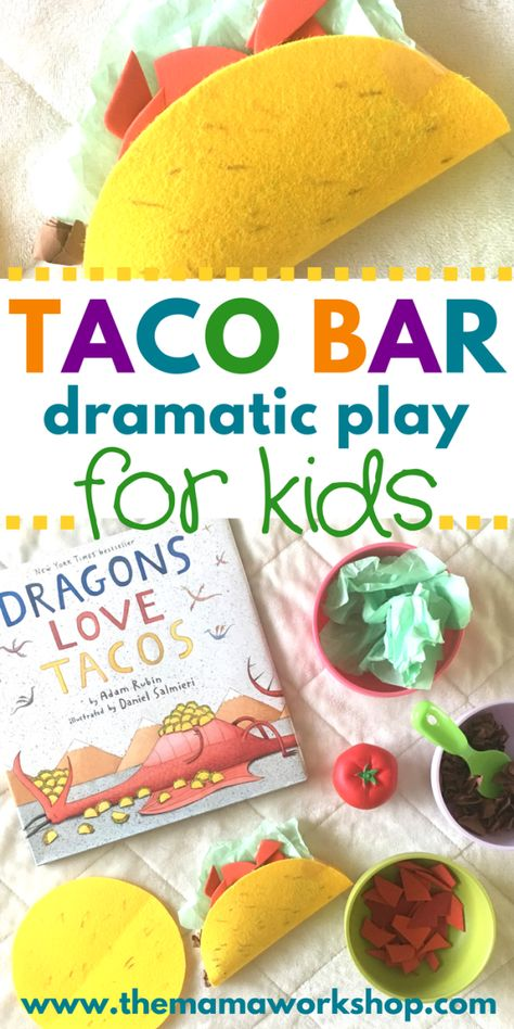 How to Setup a Taco Bar Dramatic Play Area
