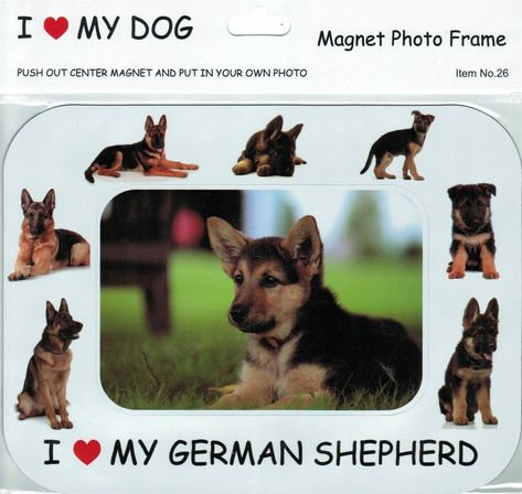 I 3 My German Shepherd Photo Frame Magnet With Images German Shepherd Funny German Shepherd German Shepherd Photos