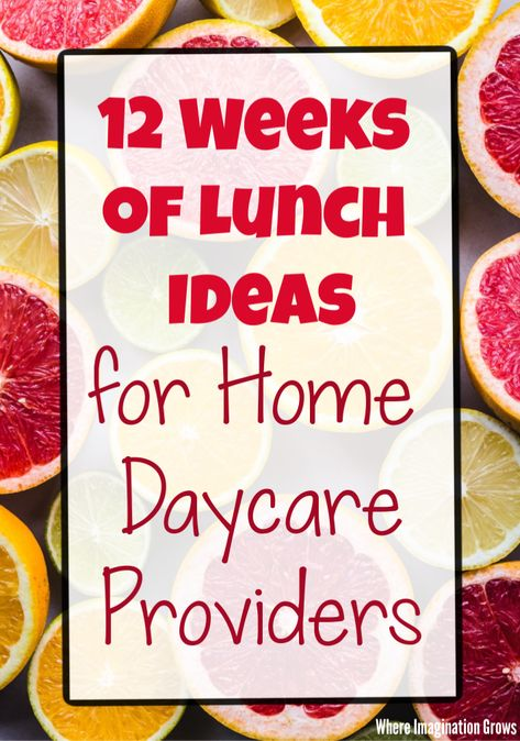 12 weeks of sample daycare lunch menus for home daycare providers! Simple meal planning ideas to provide healthy meals for toddlers and preschoolers! Lunch Ideas Kids At Home, Kids Lunch Menu, School Lunch Menu, School Snacks For Kids, Healthy Lunches For Kids, Kids Daycare, Healthy Toddler Meals, Toddler Lunches, Home Daycare