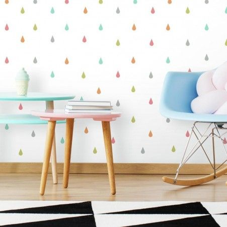Pastel Raindrop Peel And Stick Wall Decals With Images Wall