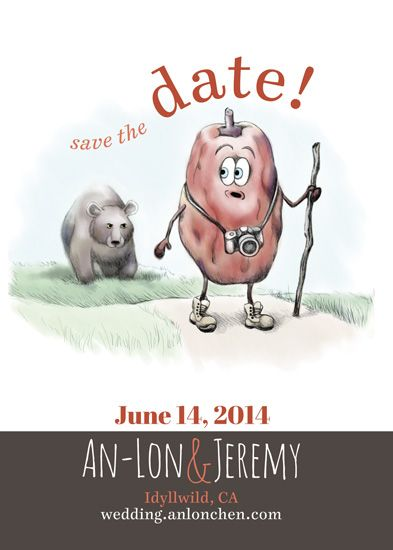 save the date cards - Very Punny