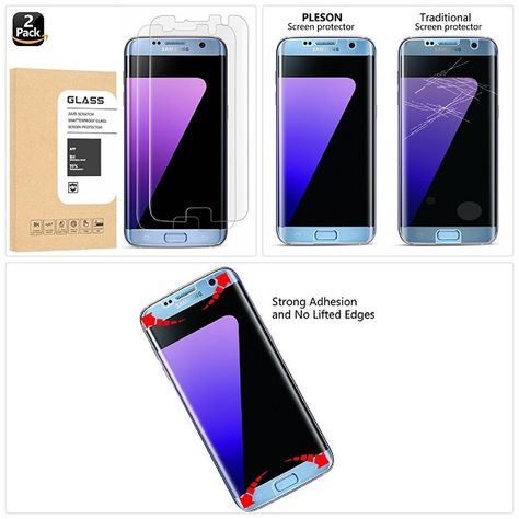 Tempered Glass Screen Protector Galaxy S7 Edge Half Coverage 9h