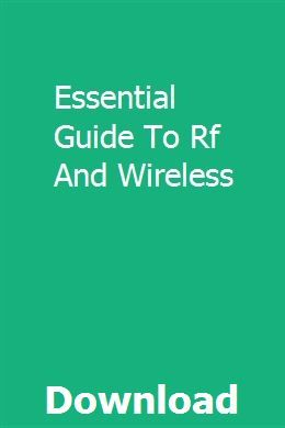 Essential Guide To Rf And Wireless | darnatennats