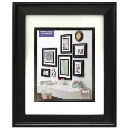 Better Homes And Gardens 11x14 Beveled Picture Frame Black Walmart Com Better Homes And Gardens Picture Frames Better Homes
