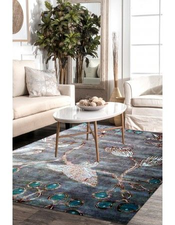 Fish Net Beautiful Handknotted Area Rug Modern Area Rugs Modern Rugs Rugs In Living Room