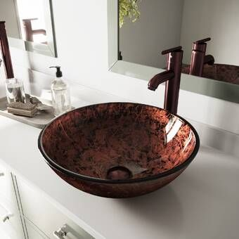 Vessel Round Bathroom Sink