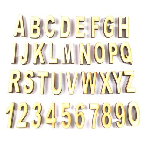 Buchstaben aus Holz zum Basteln // Holzbuchstaben und Zahlen in verschiedenen Größen zum Basteln und Gestalten.